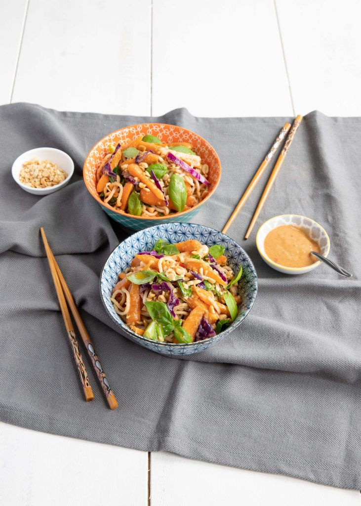 Chantenay carrot Thai style satay stirfry
