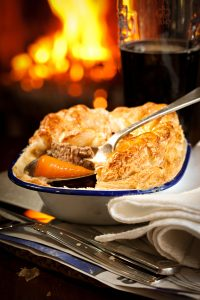 Beef, ale and Chantenay pie