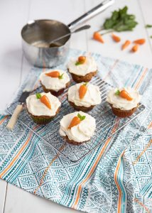 Chantenay carrot & cream cheese cupcakes