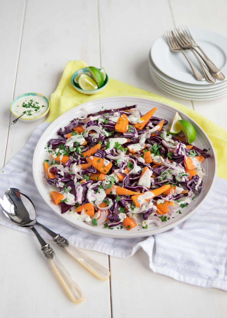 Chantenay carrot creamy coleslaw