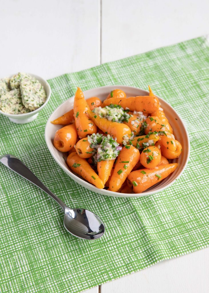 Chantenay carrots with shallot herb butter